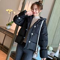 棉衣 女士短款面包服2019冬季新款韩版女式休闲加绒棉服学生大码长袖宽松连帽外套