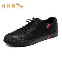 红蜻蜓男鞋春秋新款撞色新潮系带防滑时尚舒适休闲潮鞋男