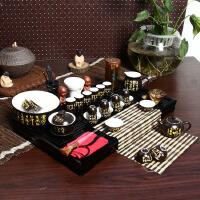 尚帝 黑诗套装 陶瓷茶具套装 整套功夫茶具茶盘套装42件 TZ-M12K99
