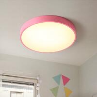北欧马卡龙吸顶灯小客厅卧室儿童房间超薄现代简约创意灯具