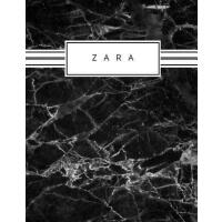 【预订】Zara: Personalized black marble sketchbook with name: 1