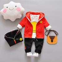 儿童韩版时尚卫衣套装三件套男童女童小孩衣服小童男宝宝春装春秋