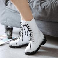 女童靴子秋冬季棉靴真皮高筒靴单靴中筒靴儿童公主加绒长靴马丁靴