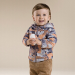davebella戴维贝拉男童宝宝秋装新款连帽拉链开衫外套28058