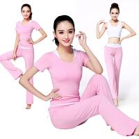 瑜伽服女套装三件套春夏新款修身显瘦女健身服家居服广场舞服装瑜珈服
