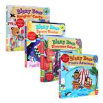 顺丰发货 英文原版绘本 busy bizzy bear 忙碌的小熊 4本套装 0-3-6岁 低幼儿机关玩具纸板书操作书