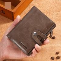 男款�凸佩X�A�Q款多功能卡包 真皮�^�优Fだ���X包男短款卡包