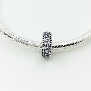 PANDORA潘多拉手链串饰密镶灵感启示间隔珠925银791359CZ