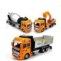 儿童工程车玩具车回力合金车模型玩具挖掘机新