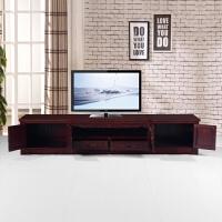 中式古典家具电视柜非洲客厅地柜全实木电视柜雕花柜 整装