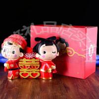 喜结同心吉祥娃娃 创意已婚礼物 婚房装饰摆件 送闺蜜婚庆礼品