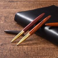黑檀木质中性笔大红酸枝签字笔公司会议商务年会实用礼品定制logo