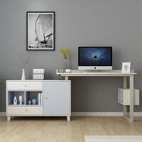 北欧电脑台式桌家用现代简约书房写字台转角办公书桌书柜一体组合 幻影色 E1级板 否