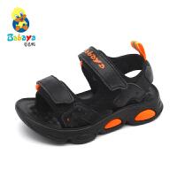 【1件8折价:79元】芭芭鸭儿童运动沙滩鞋男童宝宝凉鞋软底防滑2020夏季新款中大童鞋