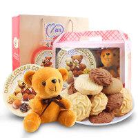 [节庆礼品] 马来西亚进口 麦阿思小熊松脆曲奇饼干(礼盒装)400g