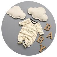 婴儿连体衣春秋纯棉新生儿衣服0-3-6-9个月潮男宝宝卡通韩版哈衣