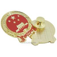 国徽中国立体小型国徽徽章珍藏版红色收藏胸章天安门胸针领章带礼盒国徽