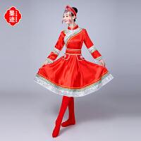 新款蒙古族服装舞蹈服装女装少数民族演出服广场舞服草原裙袍