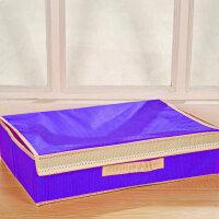 普润 二合一糖果色(15+1格)清新带盖无纺布文胸内衣袜子整理盒 紫色