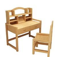 实木学习桌书桌小学生写字桌椅套装家用松木作业桌可升降课桌