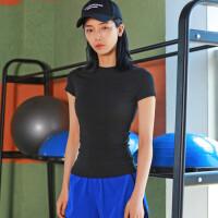 高品质弹力紧身运动短袖女显瘦吸汗速干跑步健身t恤训练瑜伽服