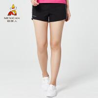 稻草人户外 短裤女跑步短裤夏季新款弹力运动裤透气轻薄速干裤