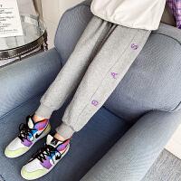 女童运动裤春秋儿童裤子外穿洋气大童灰色卫裤春款休闲裤