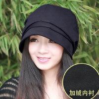 帽子女韩版潮时尚休闲显脸小画家帽八角帽欧美堆堆帽