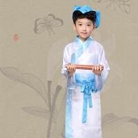 儿童古装汉服学生国学男女童宝宝书童三字经表演服装弟子规演出服