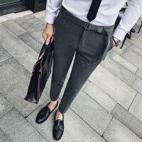 男士西裤修身休闲裤商务绅士风 涤纶68%粘胶29%氨纶3%