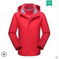 大气百搭情侣登山衣服户外冲锋衣男女三合一两件套保暖防风防水