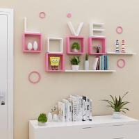 壁挂架卧室墙壁婚房装饰架客厅烤漆隔板墙上置物架搁板 LOVE字母