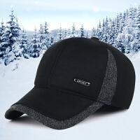 帽子男士休闲运动棒球帽冬季户外中老年加厚保暖护耳鸭舌帽