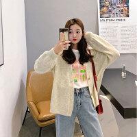 毛衣 女士短款很仙宽松洋气毛衣2020秋季新款女式开衫针织衫加厚韩版时尚外套