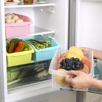 物有物语 厨房收纳盒 塑料家用冰箱整理箱杂物收纳抽屉式带手柄储物盒