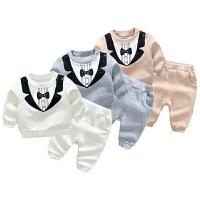 女婴儿衣服6个月宝宝长袖套装新生儿秋冬装洋气休闲两件套
