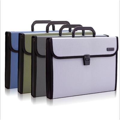 得力手提风琴包5555商务办公多功能文件包A4资料包12格收纳包 颜色*一口价一个