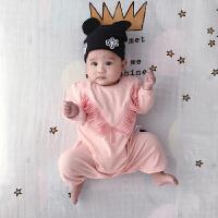 婴儿连体衣服宝宝新生儿衣服冬季0岁3月满月春装连体衣新年