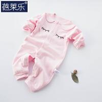 婴儿连体衣服宝宝新生儿哈衣0岁3个月潮服6满月1春装睡衣7