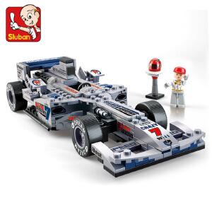 【当当自营】小鲁班F1方程式赛车系列儿童益智拼装积木玩具  1:24银箭F1赛车M38-B0352