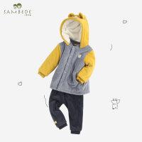 【2件2.5折:67.25元】男童秋冬季保暖�L��和�大pp�������小童男孩哈���