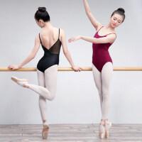 芭蕾舞服户外成人女舞蹈练功服性感吊带连体衣体操服瑜伽服艺考形体服