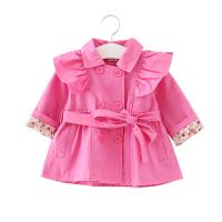 春季女童儿童短款风衣婴幼儿女宝宝双排扣春秋童装外套