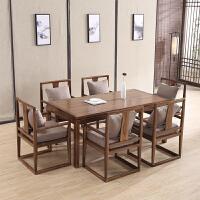 新中式实木椅组合家用椅禅意餐台简约饭桌椅餐厅家具定制