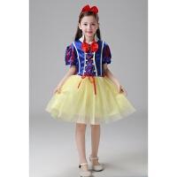 六一迪士尼白雪公主裙连衣裙儿童表演服万圣节扮演出服纱裙女童