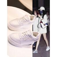 户外厚底运动鞋女韩版百搭松糕小白鞋内增高老爹时尚女鞋