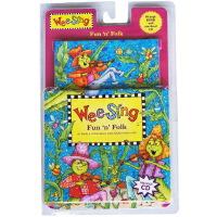 欧美经典儿歌 Wee Sing Fun 'n' Folk 英文原版 音乐童话 附CD 幼儿韵文童谣 super sim