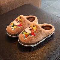 儿童拖鞋冬男男童家用室内可爱保暖牛筋底防滑宝宝棉拖鞋