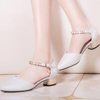 【春季新款】莫蕾蔻蕾2017春季新款女士时尚高跟鞋凉鞋防水台鞋 70065