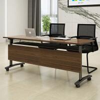 折叠培训桌条形桌移动拼接会议桌椅翻板桌学校课桌阅读室书桌